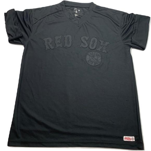 competitive price a8705 9e556 Stitches Boston Red Sox Black V-Neck Jersey Shirt